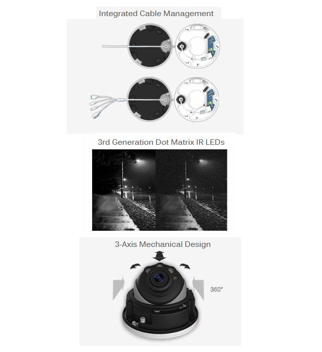 Lisway:4K H.265+/H.265方式ズームプロドームネットワークカメラ LS ...